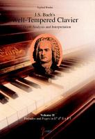 J S  Bach s Well tempered Clavier PDF