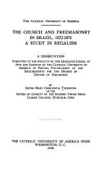The Church and Freemasonry in Brazil, 1872-1875