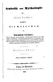 Symbolik und Mythologie der alten Völker: besonders der Griechen, Band 3