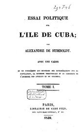 Essai politique sur l'île de Cuba