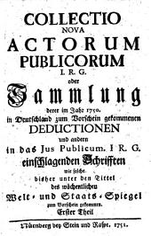 Collectio Nova Actorum Publicorum