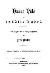 Hanne Nüte un de lütte Pudel: Ne Vagel- un Minschengeschicht
