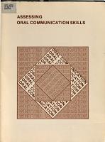 Assessing Oral Communication Skills PDF