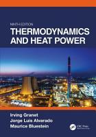 Thermodynamics and Heat Power  Ninth Edition PDF