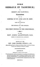 The Whole Works of the Rev. John Lightfoot: Master of Catharine Hall, Cambridge, Volume 12