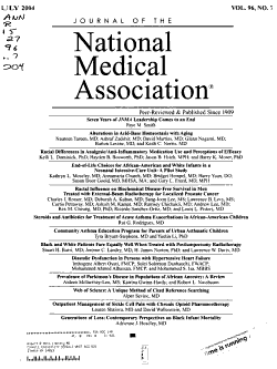 Journal of the National Medical Association PDF
