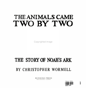 The Animals Came Two by Two PDF