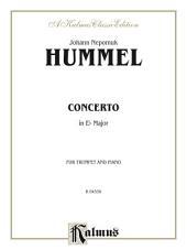 Trumpet Concerto: B-flat Cornet (Trumpet) Solo