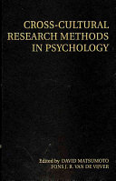 Cross Cultural Research Methods in Psychology PDF