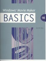 Windows Movie Maker BASICS PDF