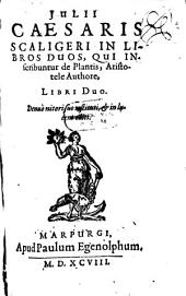 In libros de plantis Aristoteli inscriptos commentarii