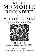 Memorie recondite dall'anno 1601 sino al 1640: Volume 6