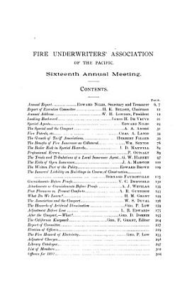Proceedings of the     Annual Meeting of the Fire Underwriter s Association of the Pacific PDF