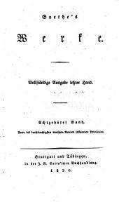 Goethe's werke: Band 18