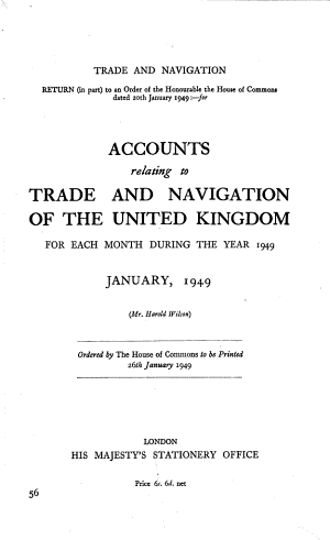 Trade and Navigation