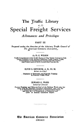 Special freight services, by H.G. Wilson