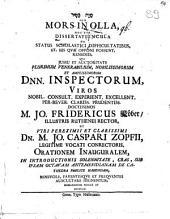 Mors in olla, hoc est dissertatiuncula de status scholastici difficultatibus et his quae opponi possint remediis