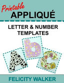 Printable Applique Letter and Number Templates