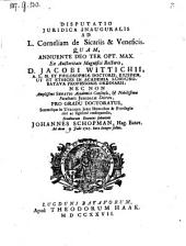 Disputatio ... ad legem Corneliam de sicariis et veneficis