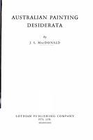 Australian Painting Desiderata PDF