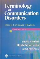Terminology of Communication Disorders PDF