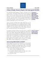 Human Rights Watch a Dose of Reality  Women s Rights in the Fight Against Hiv aids PDF