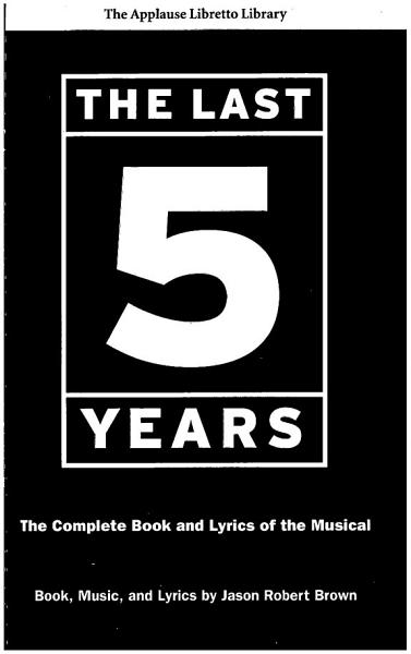 Download The Last Five Years  The Applause Libretto Library  Book