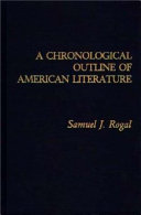 A Chronological Outline of American Literature