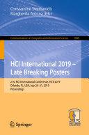 HCI International 2019 – Late Breaking Posters