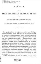 Catalogue général de la librairie française: depuis 1840