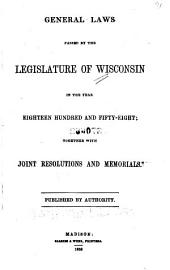 General Acts Passed by the Legislature of Wisconsin