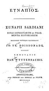 Vitas sophistarum et fragmenta historiarum: Τόμος 1
