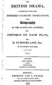Tragedy of Jane Shore with a Critique by Richard Cumberland: Volume 1
