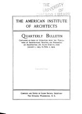 American Institute of Architects Quarterly Bulletin PDF