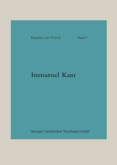 Immanuel Kant PDF