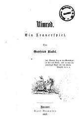 Nimrod Ein Trauerspiel von Gottfried Kinkel