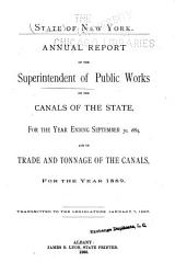 Annual Report     on the Canals of the State     and on the Trade and Tonnage of the Canals     PDF