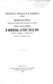 Rendiconto delle tornate e dei lavori: Volume 16