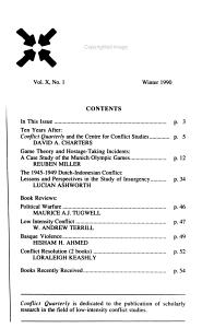 Conflict Quarterly PDF