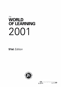 The World of Learning 2001 PDF