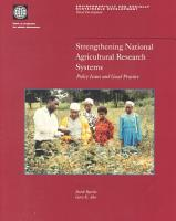 Strengthening National Agricultural Research Systems PDF