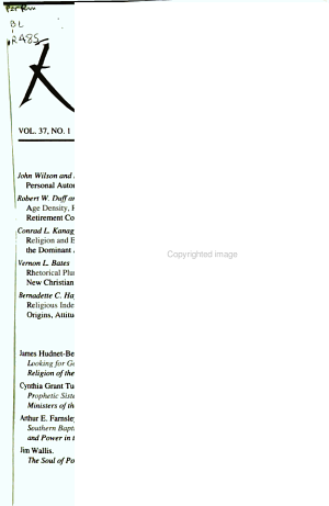 Review of Religious Research PDF
