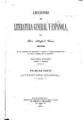 Lecciones de literatura general y española
