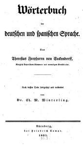 Wörterbuch der deutschen und spanischen Sprache