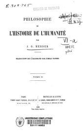 Philosophie de l'histoire de l'humanité: Volume2