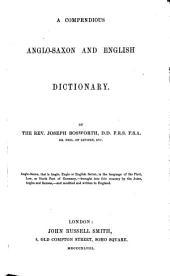 Anglo-Saxon and English Dictionary