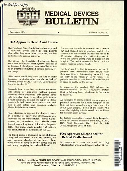 Medical Devices Bulletin