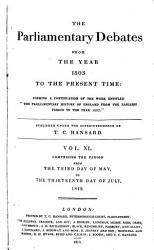 The Parliamentary Debates From The Year 1803 To The Present Time 03 Book PDF