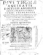 Divi Thomae Aquinatis ... Summa theologica