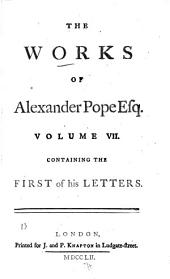 The Works of Alexander Pope, Esq: Letters